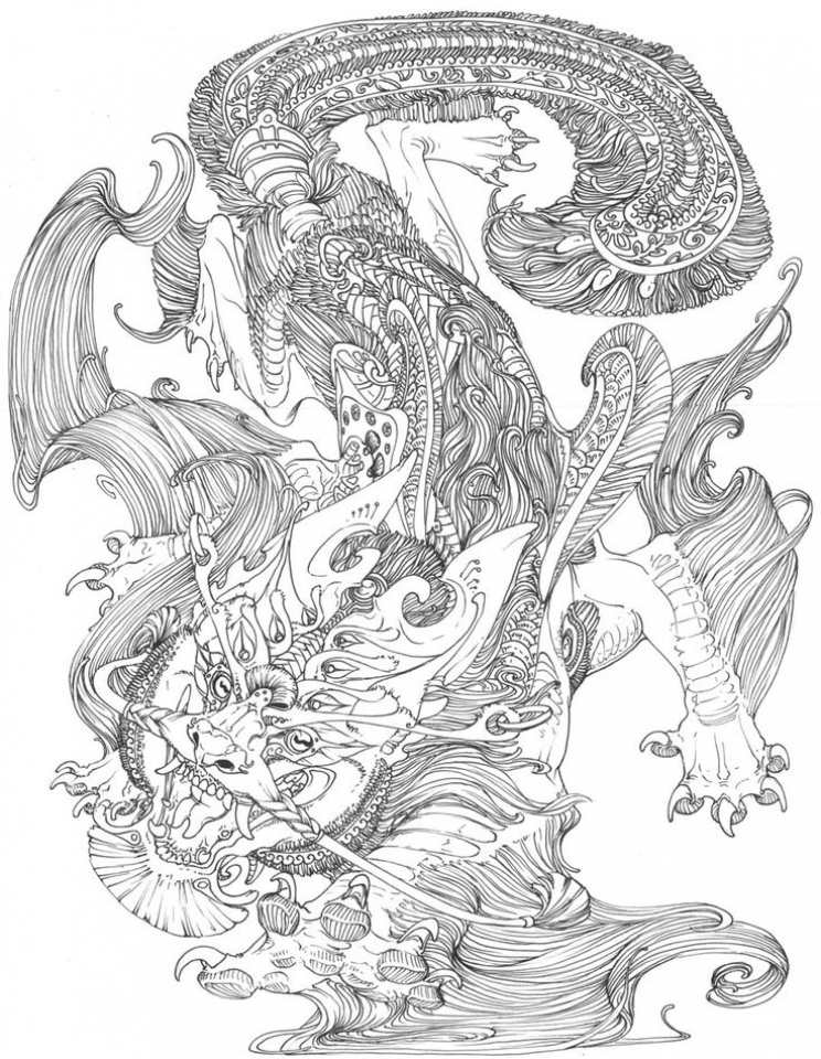 Complex Coloring Pages for Adults   38V6N