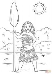 Disney Moana Coloring Pages PL21Z
