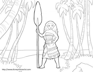 Disney Moana Coloring Pages PQ21J