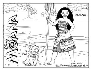 Disney Moana Coloring Pages YA409