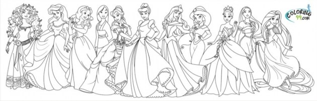 Disney Princess Coloring Pages Free Printable 434409