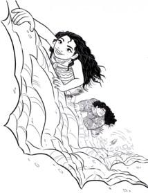 Disney Princess Moana Coloring Pages to Print BC98M