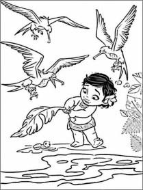 Disney Princess Moana Coloring Pages to Print RU28Y