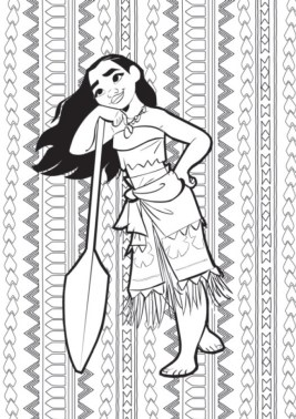 Disney Princess Moana Coloring Pages to Print TY24I