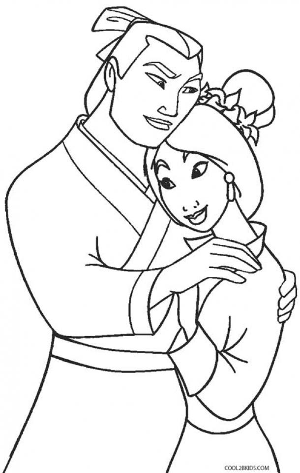 Disney Princess Mulan Coloring Pages   454lz