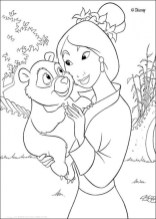 Disney Princess Mulan Coloring Pages db874