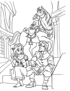 Disney Princess Rapunzel Coloring Pages 2N8GF