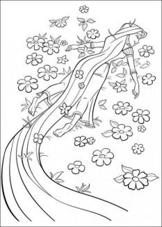 Disney Princess Rapunzel Coloring Pages 4B6N7