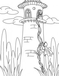 Disney Princess Rapunzel Coloring Pages PV75B