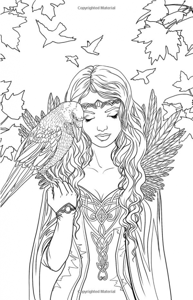 Get This Elf Coloring Pages For Adults Free Printable 9984