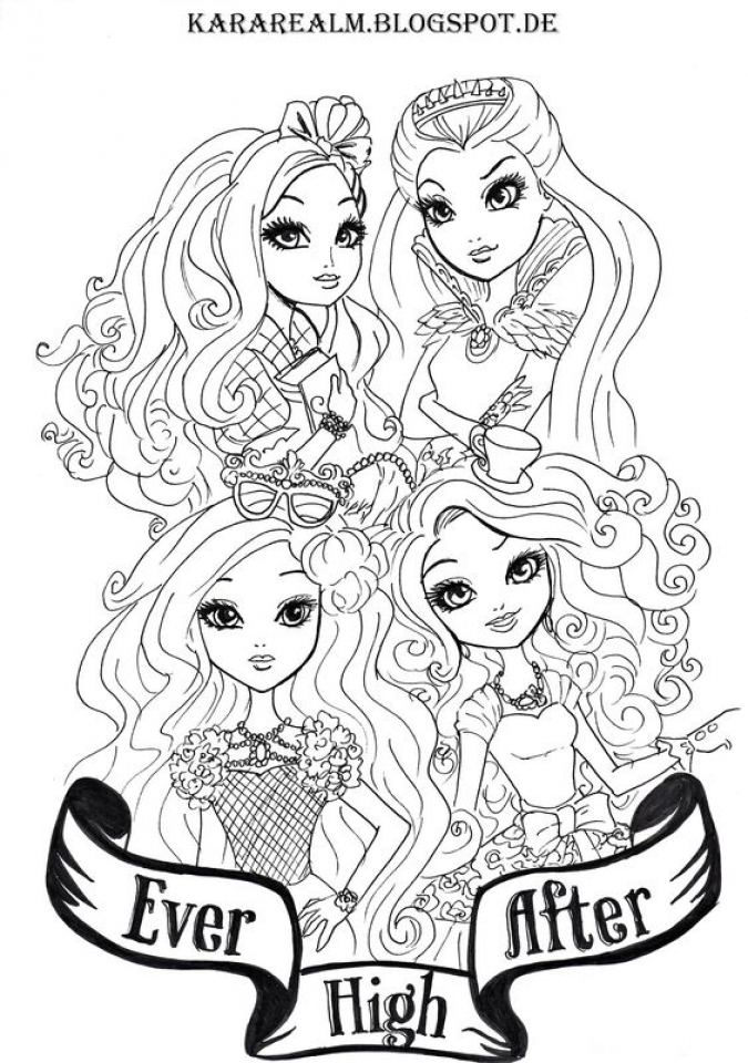 Ever After High Coloring Pages for Girls   HYI98