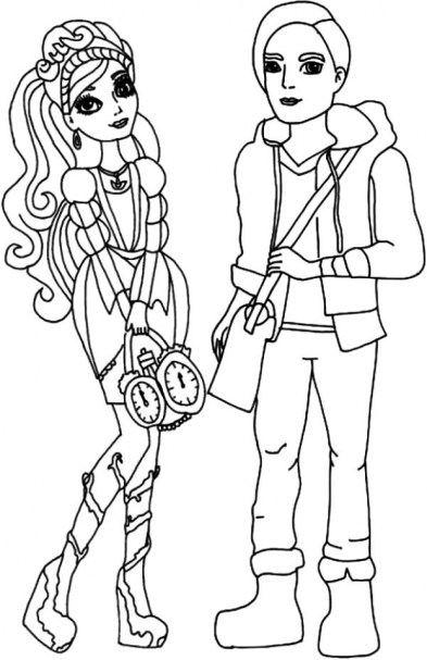 Ever After High Coloring Pages for Girls TYU56