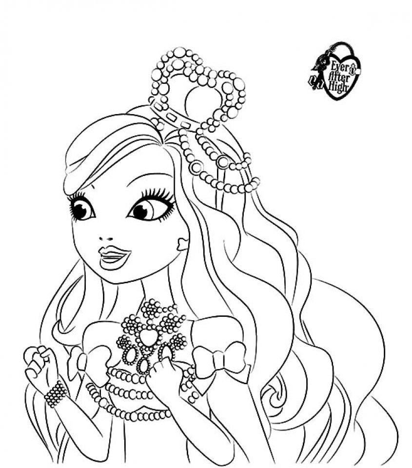 Free Printable Ever After High Coloring Pages: Apple White ...   960x845