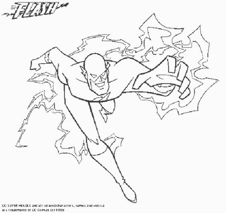 Flash Coloring Pages Free Printable   q8ix18