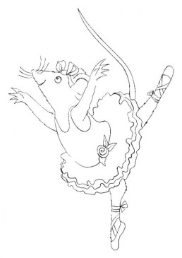 Free Angelina Ballerina Coloring Pages to Print 993960