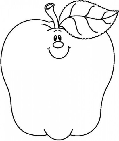 Free Apple Coloring Pages to Print 6pyax