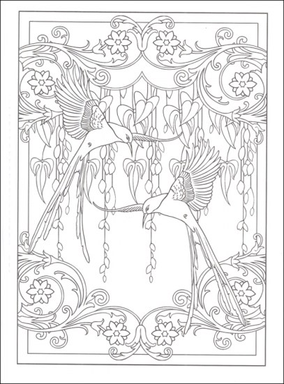 Free Art Deco Patterns Coloring Pages for Adults 98634