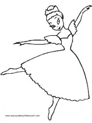 Free Ballerina Coloring Pages to Print 6pyax