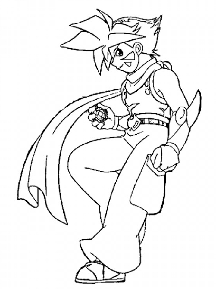 Free Beyblade Coloring Pages to Print   00029