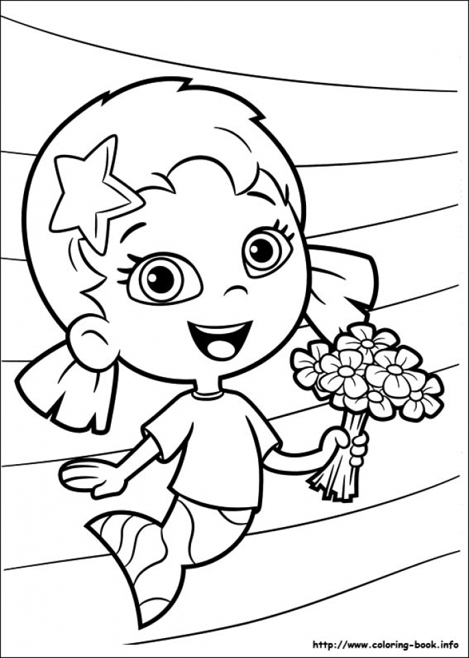 Free Bubble Guppies Coloring Pages   706097