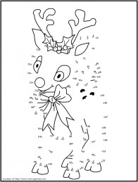 Free Christmas Dot to Dot Coloring Pages CIVXM