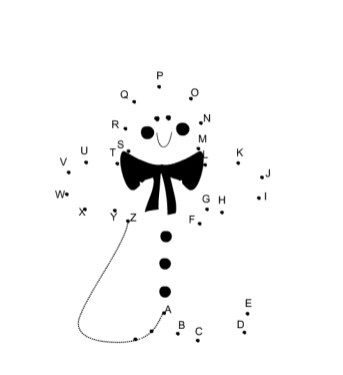 Free Christmas Dot to Dot Coloring Pages to Print 9UWMI