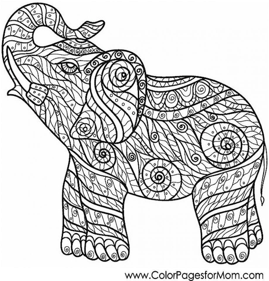 Get This Free Difficult Animals Coloring Pages for Grown ...   colouring pages animals hard