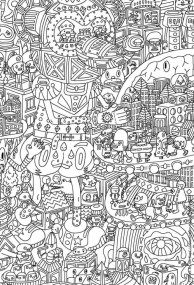 Free Doodle Art Coloring Pages for Adults CF42H