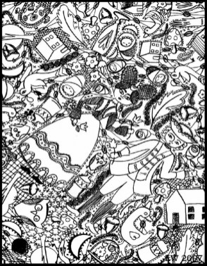 Free Doodle Art Coloring Pages for Adults fgl86
