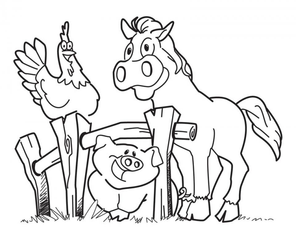Free Farm Coloring Pages   CIVXM