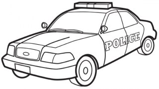 Free Police Car Coloring Pages 07599