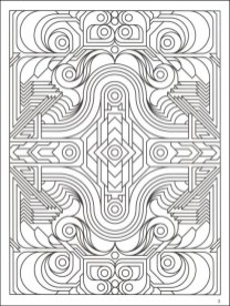 Free Printable Art Deco Patterns Coloring Pages for Adults 76429