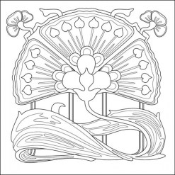 Free Printable Art Deco Patterns Coloring Pages for Grown Ups chgru70