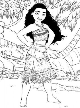 Free Printable Disney Moana Coloring Pages PO72R