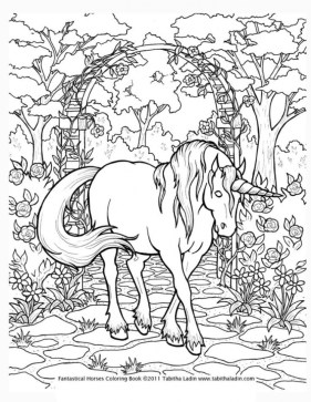 20 Free Printable Unicorn Coloring Pages For Adults Everfreecoloring Com