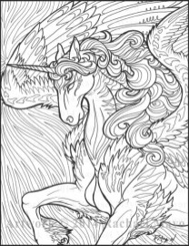 Free Printable Unicorn Coloring Pages for Adults WP974