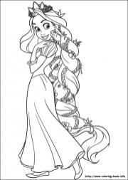 Free Rapunzel Coloring Pages VQKC3