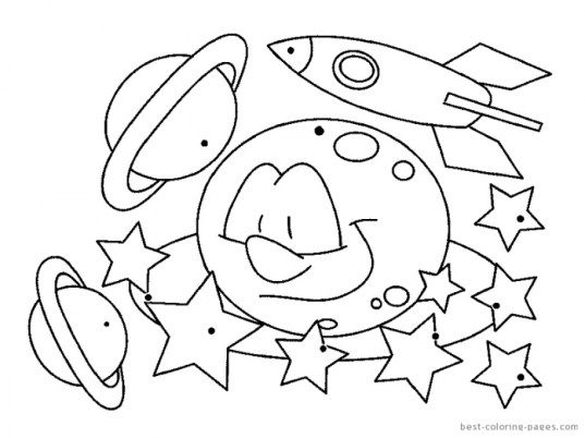 Free Space Coloring Pages to Print rk86j