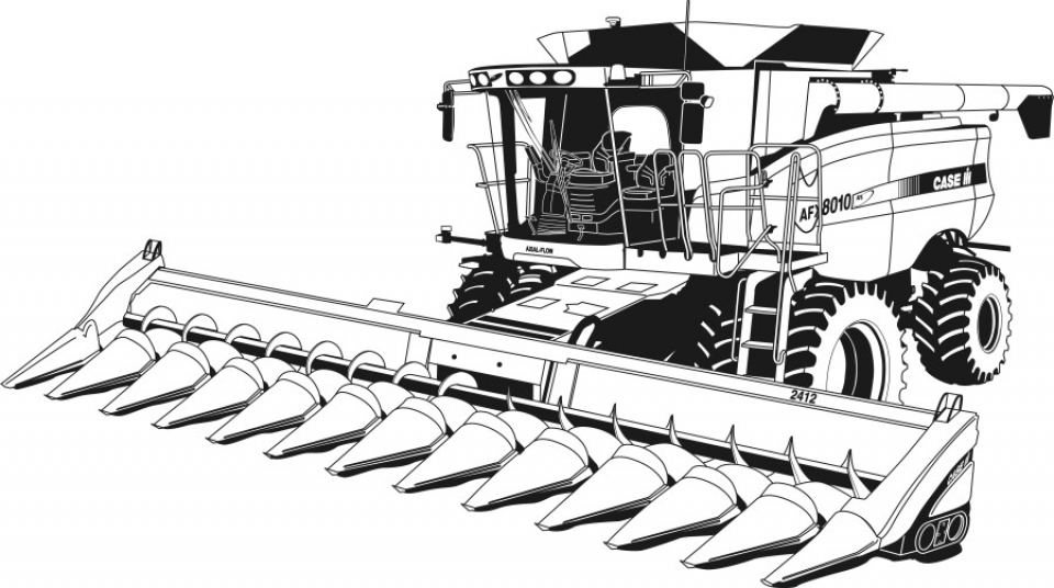 Get This Free Tractor Coloring Pages To Print 33958