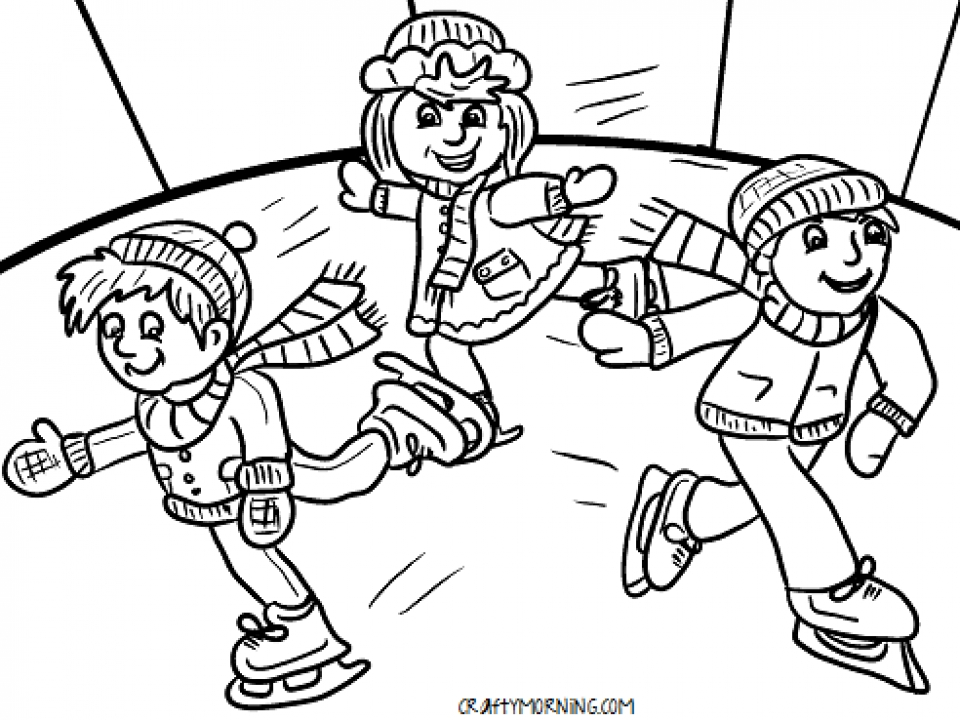 Free Winter Coloring Pages to Print   993963