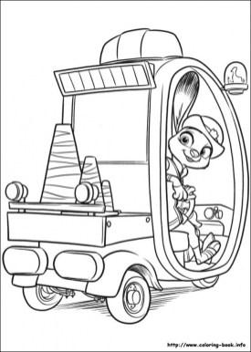 Free Zootopia Coloring Pages 787922