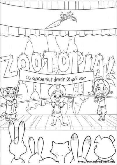 Free Zootopia Coloring Pages to Print 993973
