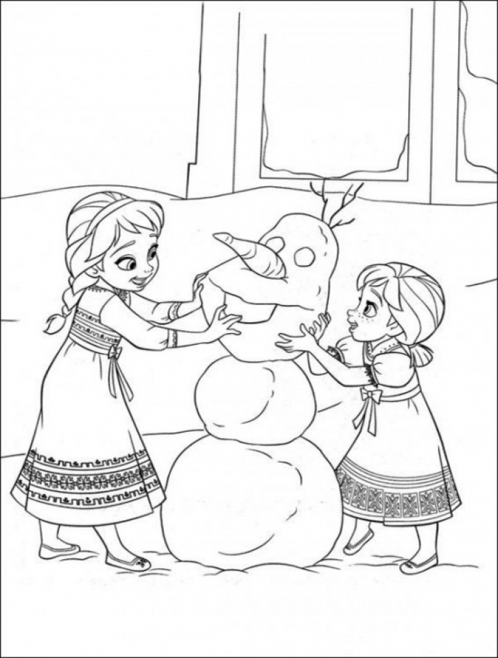 Get This Frozen Coloring Pages Free Printable 595993 !