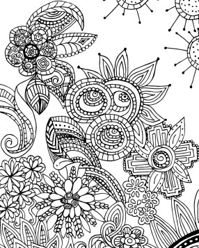 Fun Doodle Art Adult Coloring Pages Printable 32h6b