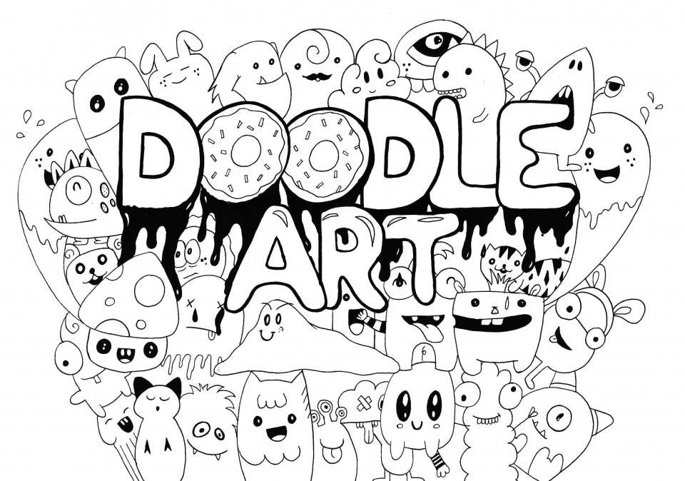 - 20+ Free Printable Doodle Art Coloring Pages For Adults -  EverFreeColoring.com