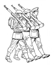 Kids Printable Army Coloring Pages 24chb67