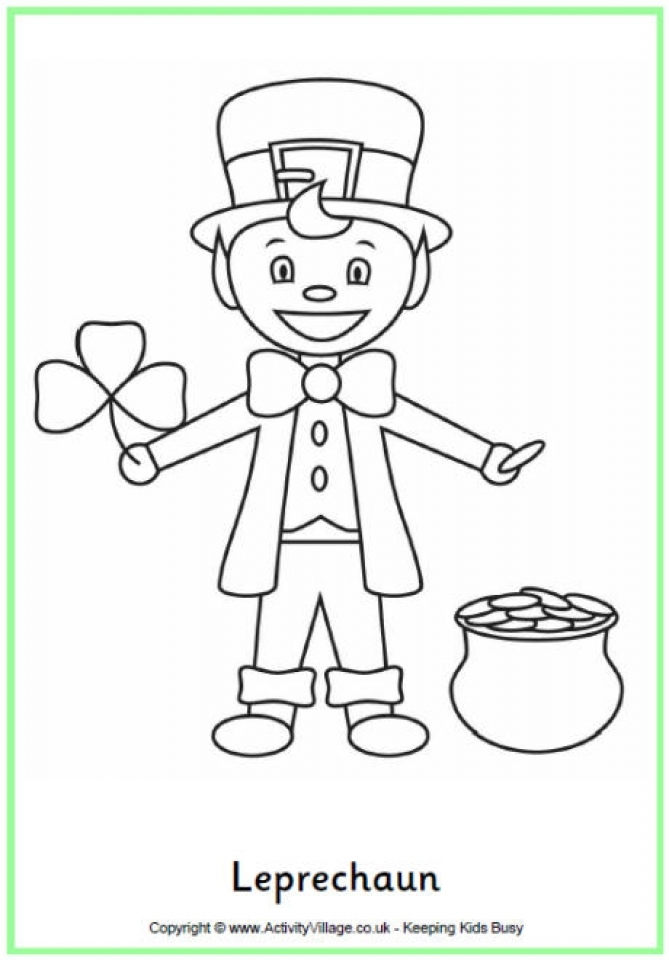 Leprechaun Coloring Pages Free Printable   fyo105