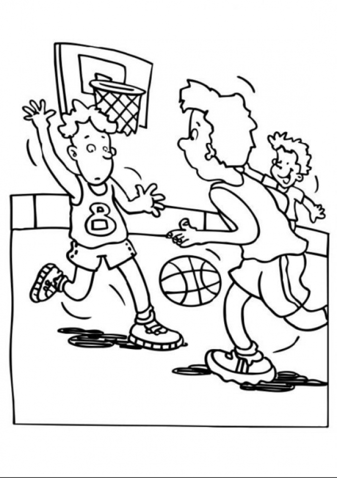 Online Basketball Coloring Pages   358888