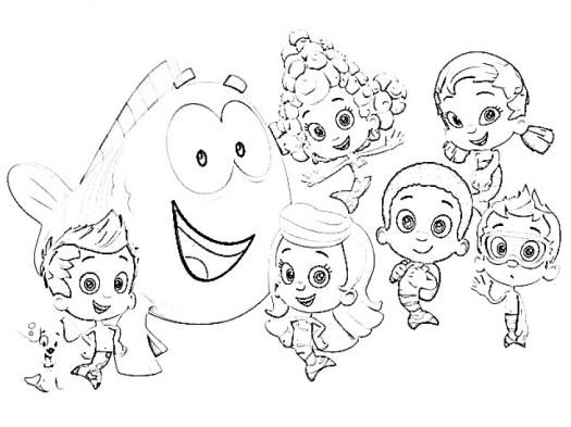 Online Bubble Guppies Coloring Pages 357849