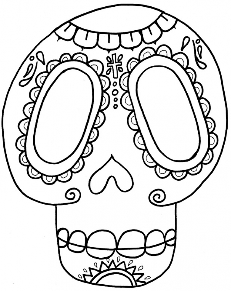 Online Dia De Los Muertos Coloring Pages   jzj9z